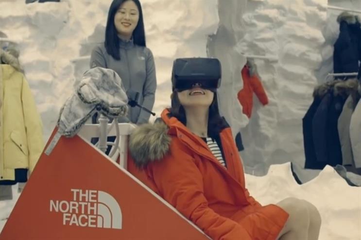 Participants' virtual experience soon became a reality (YouTube/TheNorthFaceKorea)