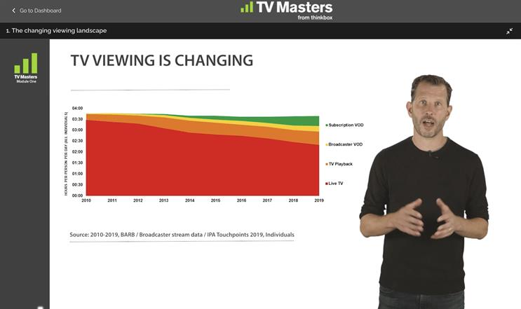 TV Masters: online course led by Thinkbox's Matt Hill