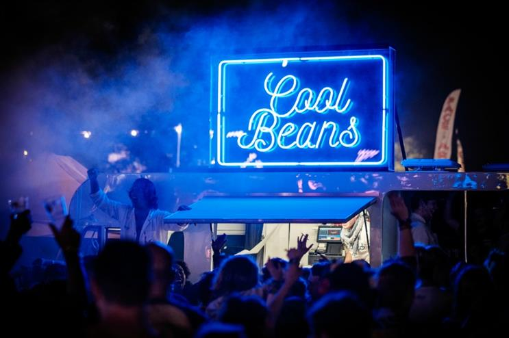 The milk float turns into a party area at night