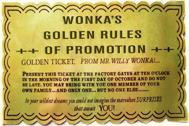 The Golden Rules Of Promotion 50 Years On Why Willy Wonka Is Still