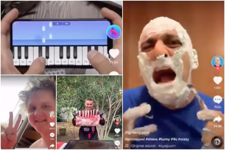 TikTok: user videos tend to be humorous and set to pop music