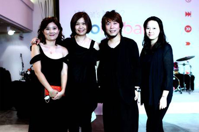 Trio Isobar: from left, April Chang, Jean Lin, Chris Chen and Britney Pai