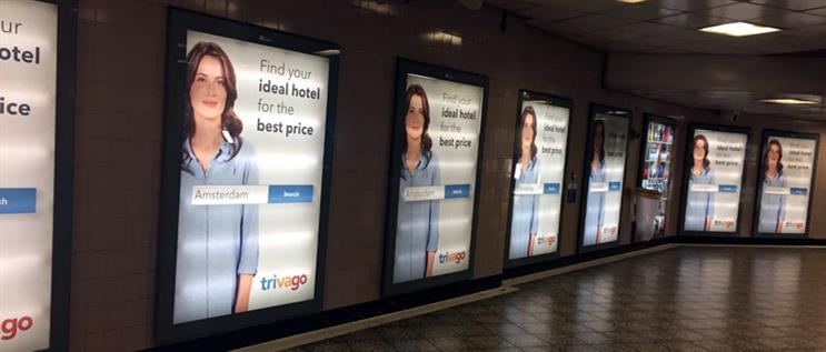 The Trivago ad's ubiquity has been noticed. | Image credit: @clairejones