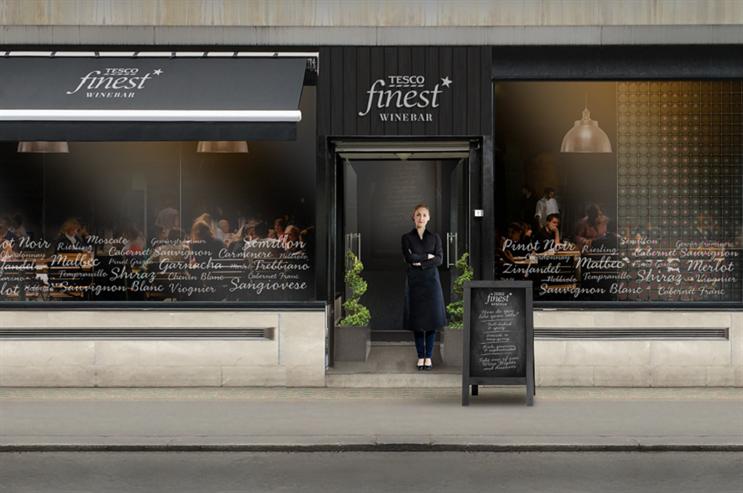Supermarket chain Tesco is to open pop-up wine bar in Soho, London