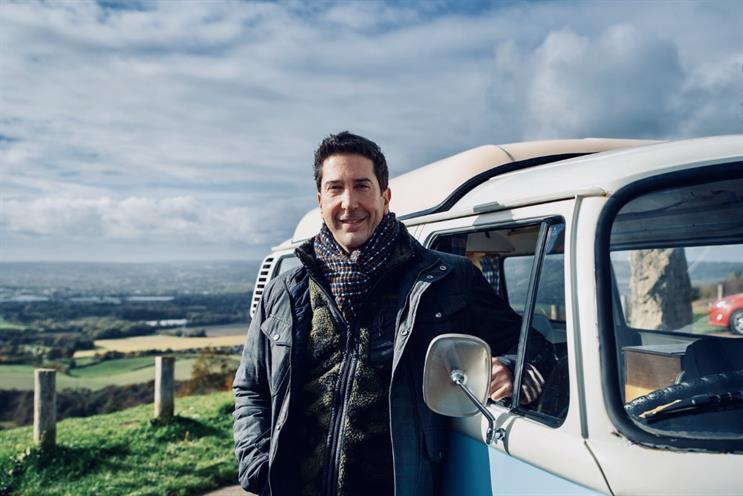 Schwimmer: shoot took place in Kent countryside