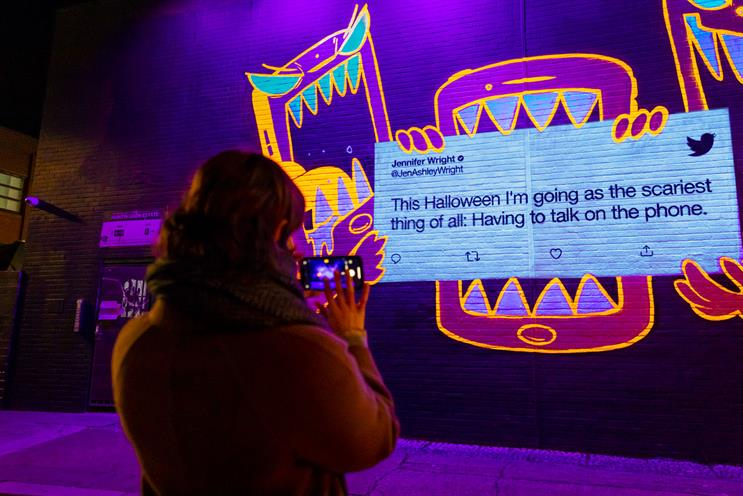 Experiences: Twitter produced an outdoor activation for Halloween