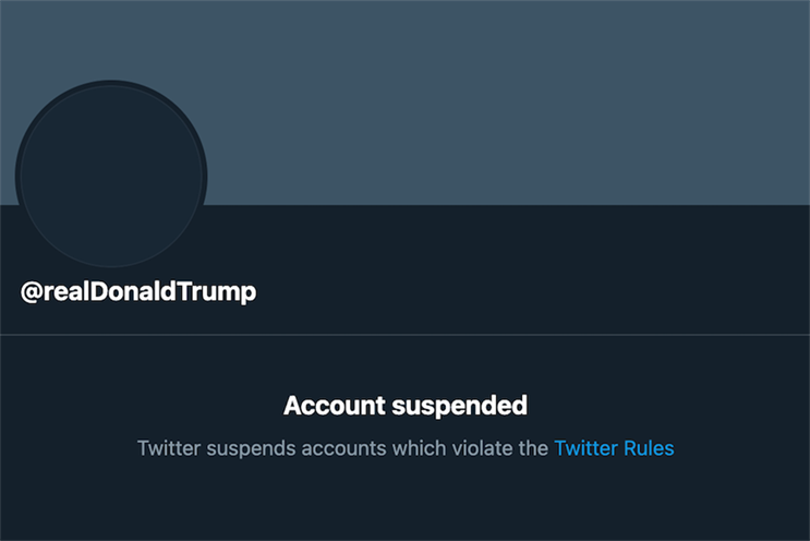 Twitter: suspended Donald Trump's account following violations of the platform's guidelines