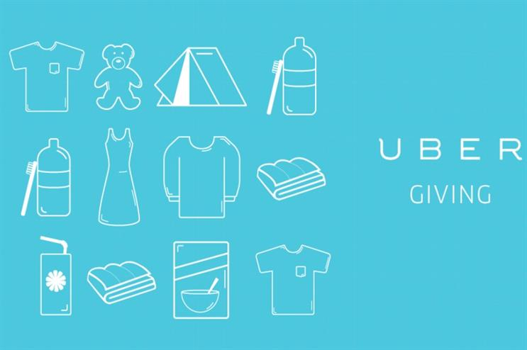 Uber collected donated goods across 20 European countries (@Uber)