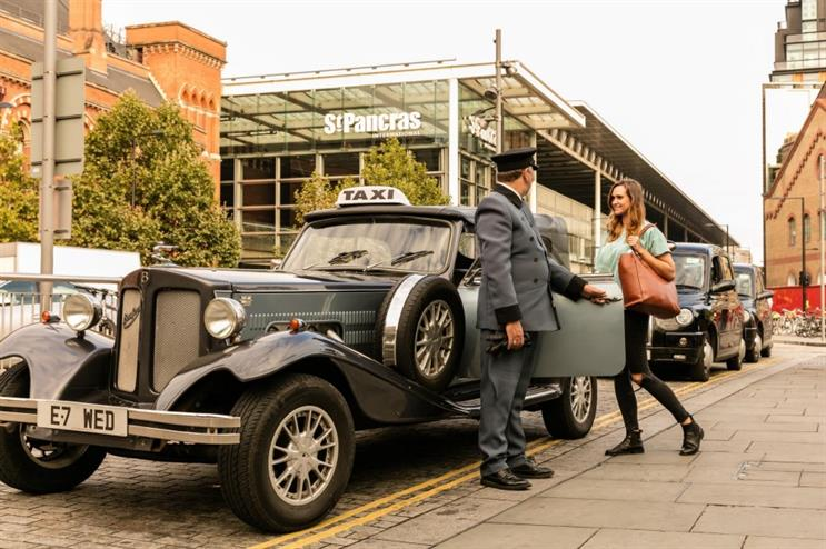 The Downton Abbey-themed vehicle will travel around central London tomorrow (18 September)