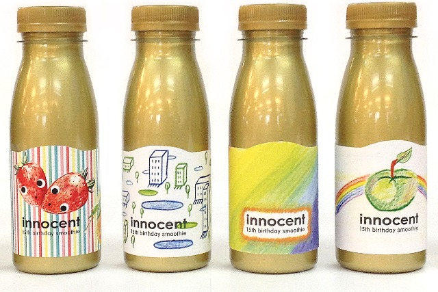 Innocent: celebrating 15 years with illustrated bottles