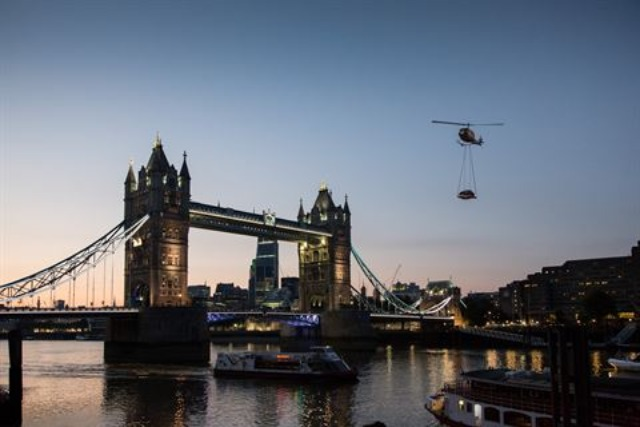 Jaguar Land Rover: suspended the new XE model over London in PR stunt