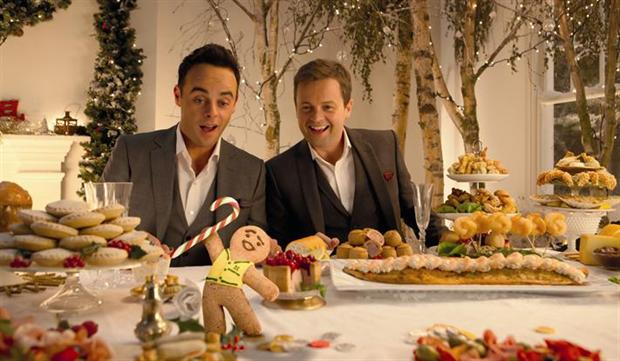 Morrisons 2013 ad with Ant & Dec featured a Christmas feast