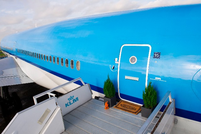 KLM: kitted out a plane to create a 'luxurious' hotel