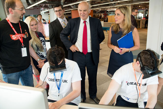 Create UK: business secretary Vince Cable and Facebook's Nicola Mendlesohn at last week's launch