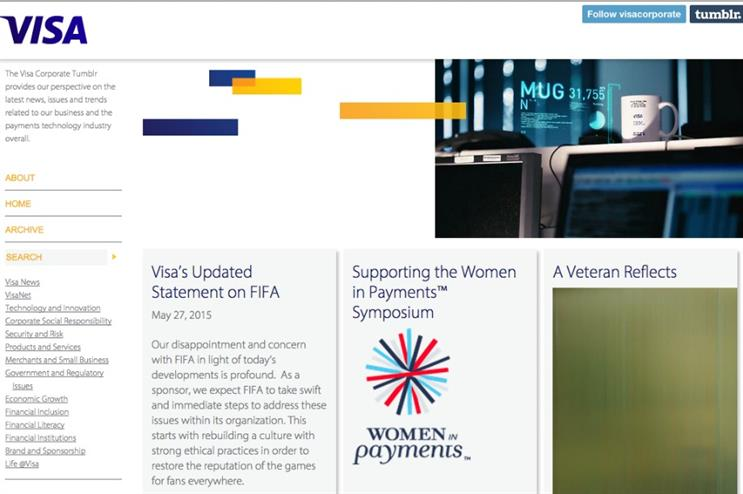 Visa published its views on its corporate Tumblr page