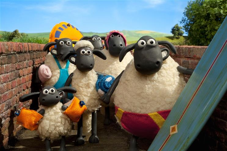 VisitBritain: Shaun the Sheep (middle) promotes staycations