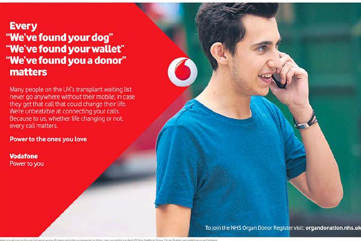 Vodafone: this ad appeared in January