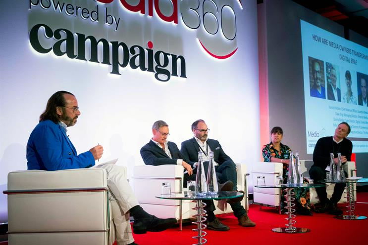 Media360 panel (l-r): David Weeks, executive director of The Week; Dave King; Hamish Nicklin; Davina Barker; Kelly Williams