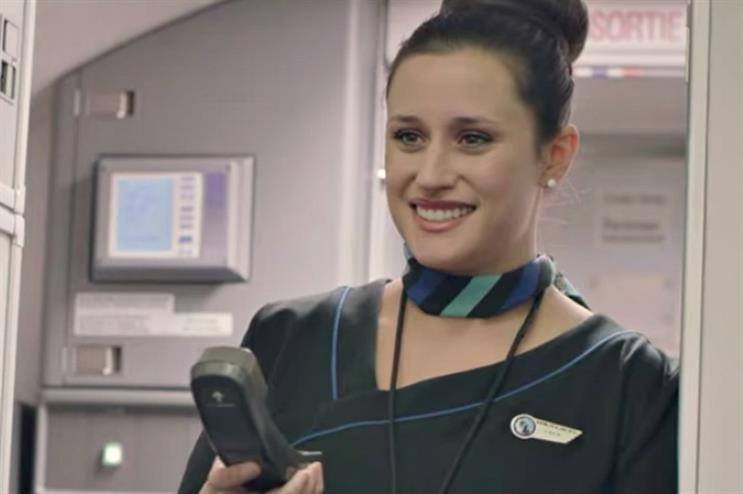 Westjet's flight attendant informs passengers about the experience