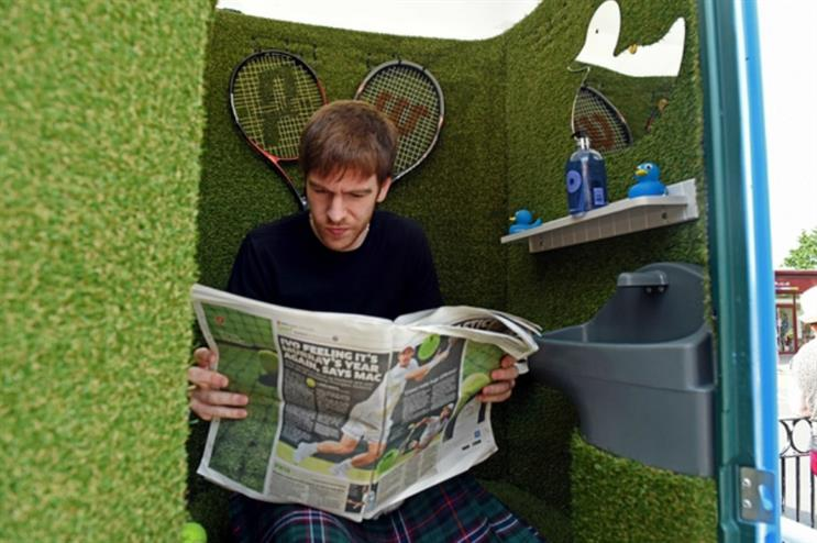 Bathstore provided a luxury multi-sensory toilet for those waiting in the queue at Wimbledon