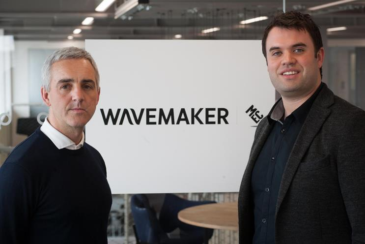 Wavemaker: Matt Davies (left) and Ben McKay become new content division's joint MDs in the UK