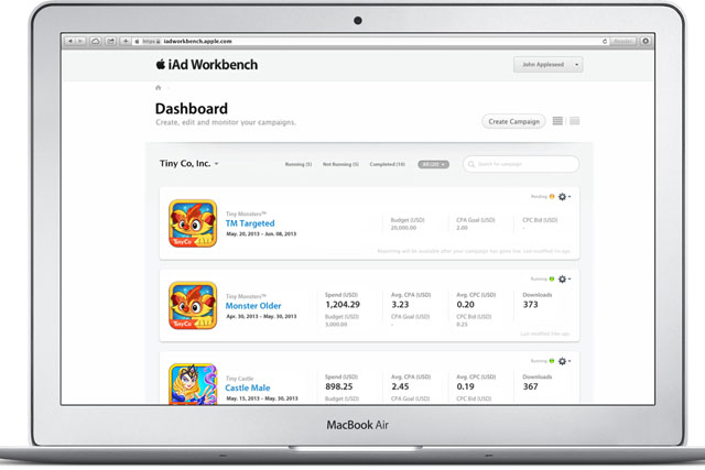 Apple: iAd Workbench service launched in the US in June