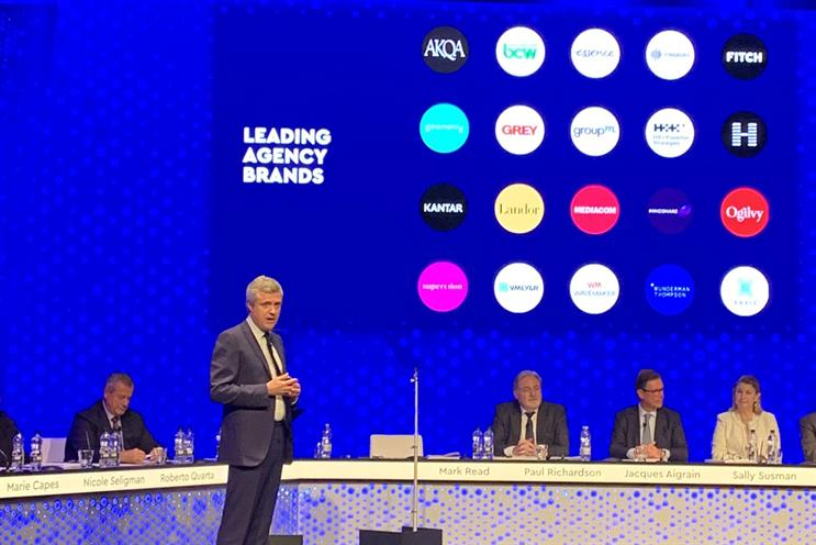 WPP: Read presents leading agency brands at AGM