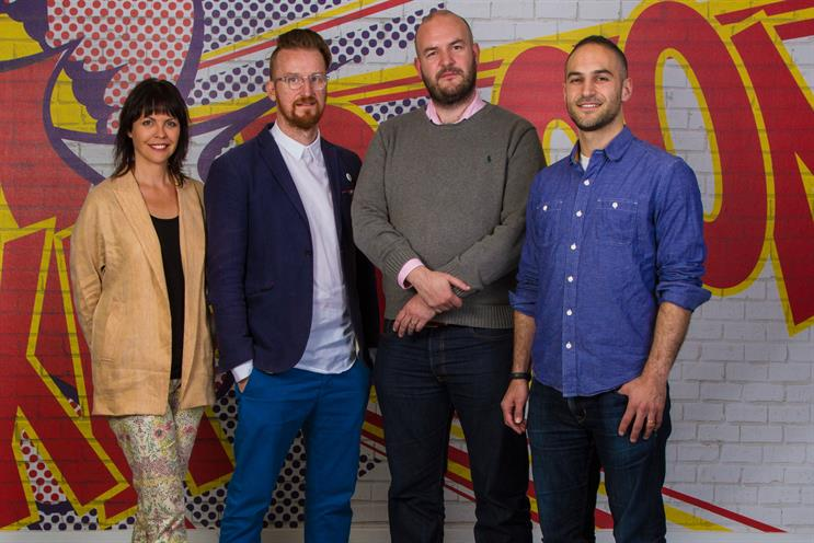 Wunderman hires (L-R): Lezaan Roos, Andrew Thomas, Paul Harvey and Michael Maxwell