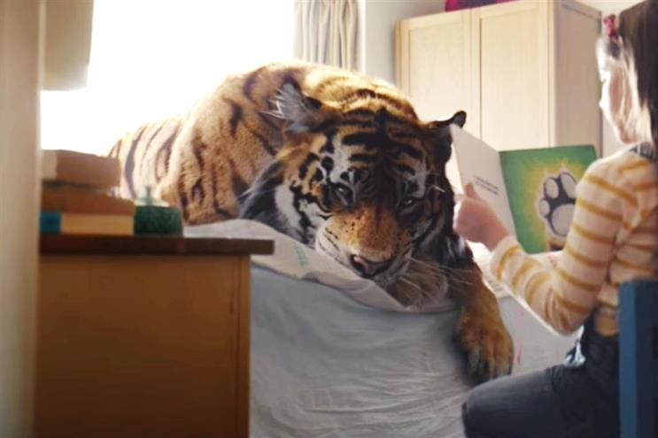 WWF 'Tiger in suburbia' by JWT London: the charity is pitching for its UK ad account