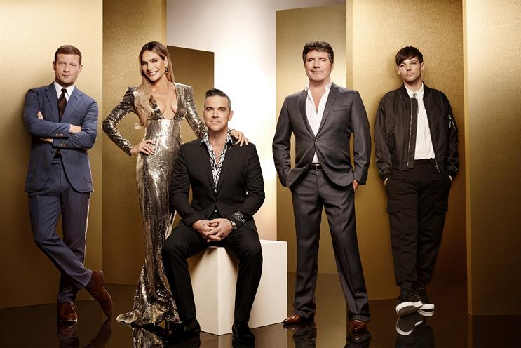 The X Factor: line-up includes Robbie Williams