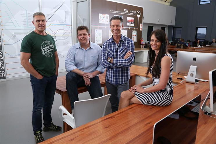 Yonder's management team: Thys Potgieter, Johan van de Walt, Rick Joubert and Fiona Potgieter