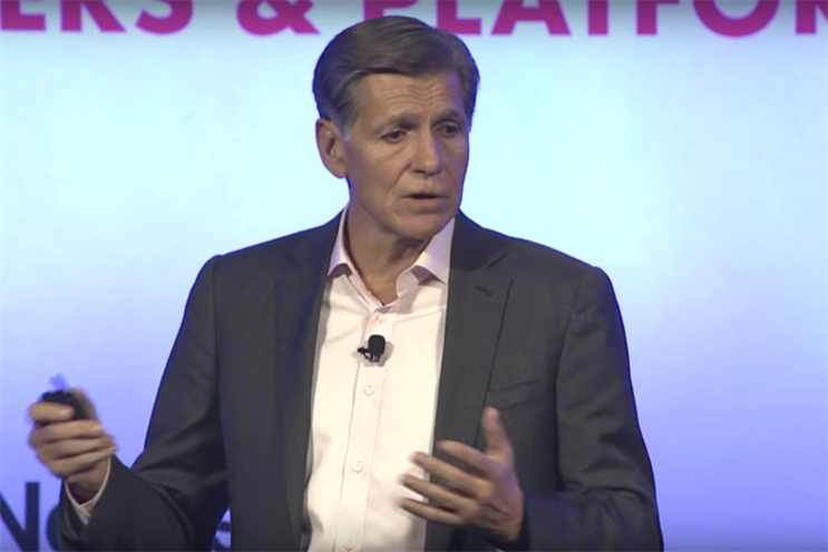 """Marc Pritchard, P&G, on Better Advertising Enabled by Media Transparency at IAB ALM (Image from <a href=""""https://www.youtube.com/watch?v=NEUCOsphoI0"""">IAB - Interactive Advertising Bureau</a>"""