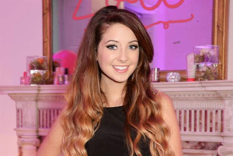 Fashion and beauty blogger Zoella has mass-market appeal