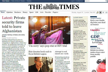 Mixed response: The Times paywall