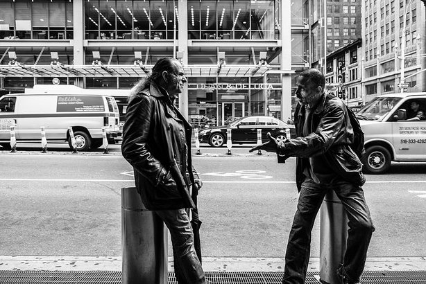 The men on the street: what they are saying is a higher priority than what the media is writing, this study suggests (Credit: Jim Pennucci on Flickr)