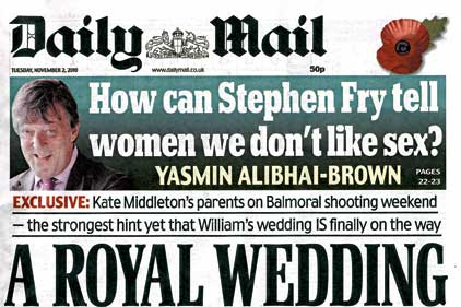 Influential: Daily Mail seen as voice of Middle England