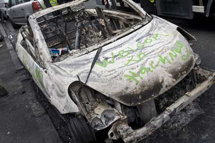 Hackney: hit hard by the summer riots (Rex Features)