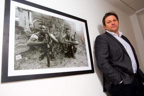 In the firing line: Dieter Loraine