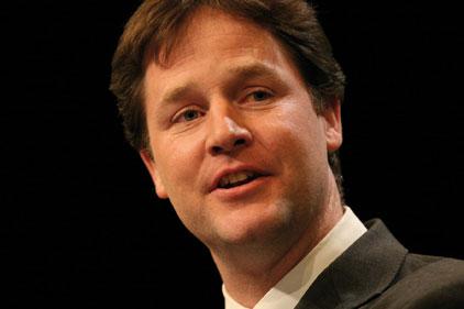 Under pressure: Nick Clegg
