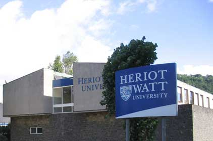 Heriot-Watt: asked interested agencies to pay £200