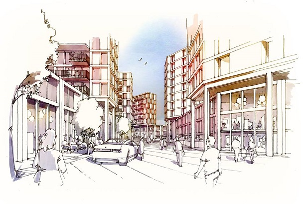 One of Be Living's plans for the Knollys Yard site. The developer is a client of BECG