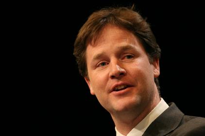 Nick Clegg: attacked David Cameron's EU veto