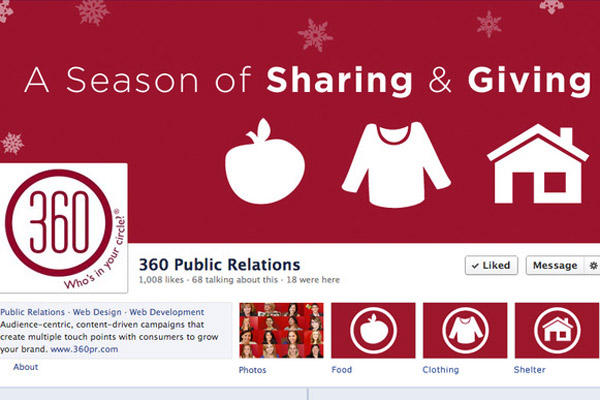 360 PR plans Facebook takeover for giving campaign