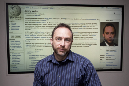 Jimmy Wales: not impressed by Bell Pottinger (Rex Features)