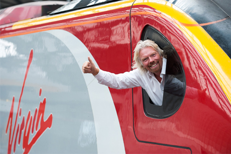 Thumbs up: Branson successfully campaigned against FirstGroup