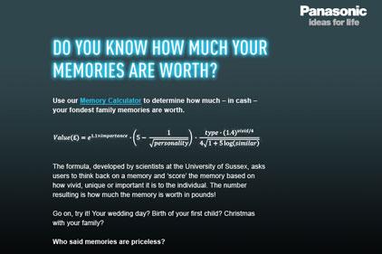 Memories: Panasonic's monetary value calculator