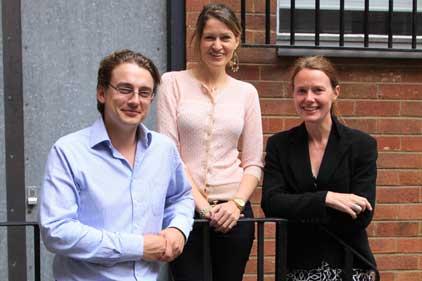 US venture: Brendon Craigie, Isabel Fox and Kristin Syltevik