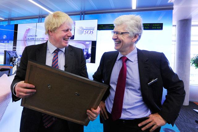 Launch: Boris Johnson with International SOS Chairman and CEO Arnaud Vaissié