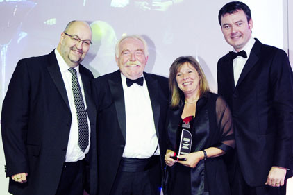 Derbyshire: accepting award from CIPR president Kevin Taylor