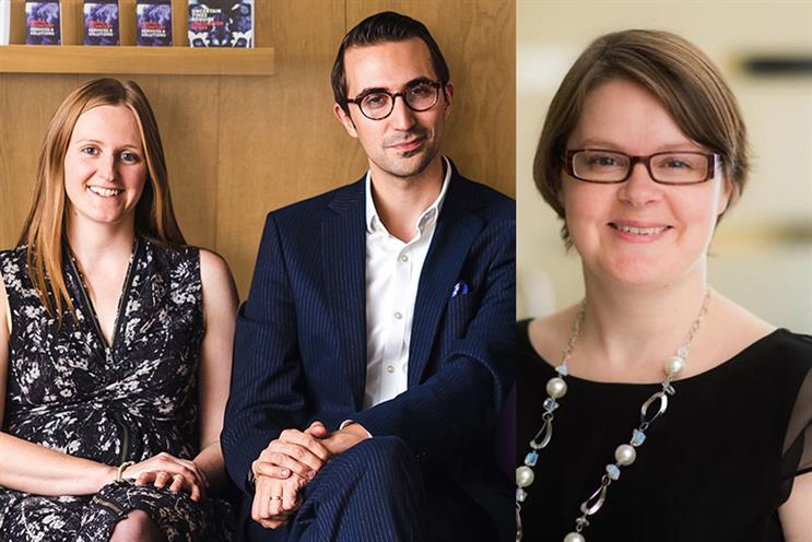 L-R) Emma Gorton, Alex Davies and Emma Eatwell have been promoted after healthcare revenue growth